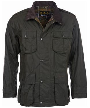 Men's Barbour Trooper Waxed Jacket - Olive