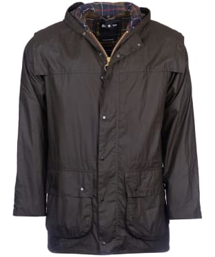 Men's Barbour Classic Durham Waxed Jacket - Olive