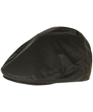 Men's Barbour Waxed Flat Cap - Sylkoil - Olive