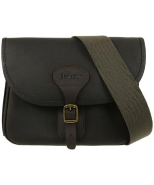 Barbour Waxed Cotton and Leather Cartridge Bag - Olive