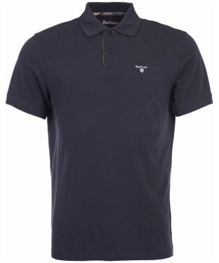 Men's Barbour Tartan Pique Polo Shirt - Navy