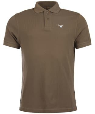 Men's Barbour Tartan Pique Polo Shirt - Dark Olive