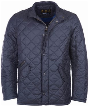 Men's Barbour Flyweight Chelsea Quilted Jacket - Navy / Atlantic Blue
