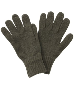Men's Barbour Lambswool Gloves - Olive