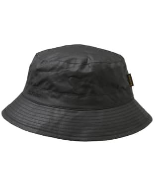 Men's Barbour Waxed Sports Hat - Black