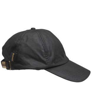 Men's Barbour Waxed Sports Cap - Black