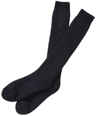 Men's Barbour Wellington Socks (knee length) - Navy