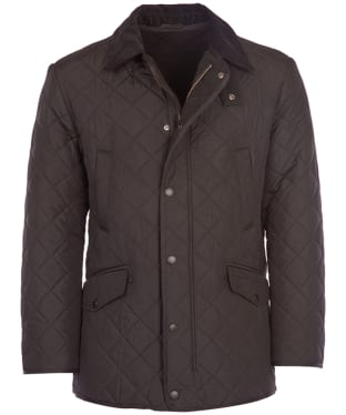 Men's Barbour Bardon Quilted Jacket - Dark Brown