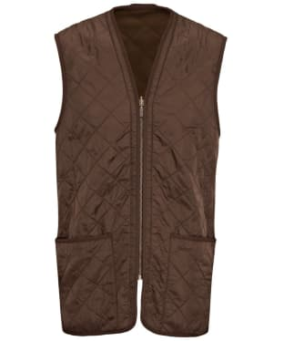 Men's Barbour Polarquilt Waistcoat / Zip-In Liner - Dark Brown