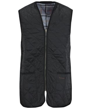 Men's Barbour Quilted Waistcoat / Zip-in Liner - Black
