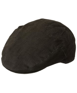 Men's Barbour Cord Flat Cap - Olive