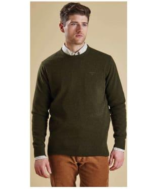 Men's Barbour Essential Lambswool Crew Neck Sweater - Seaweed