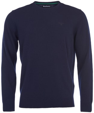 Men's Barbour Essential Lambswool Crew Neck Sweater - Navy