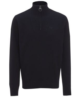 Men's Barbour Essential Lambswool Half Zip Sweater - Navy
