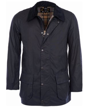 Men's Barbour Bristol Waxed Jacket - Navy