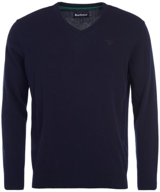 b3dac19a5597ff Men s Barbour Essential Lambswool V Neck Sweater - Navy