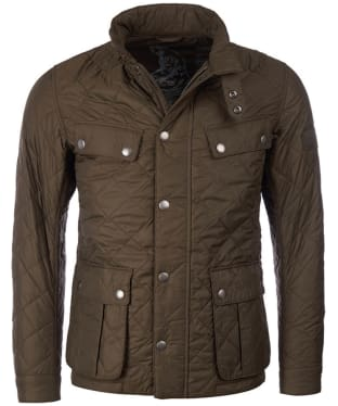 Men's Barbour International Ariel Quilted Jacket - Olive