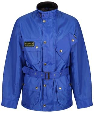Men's Barbour International A7 Brass Jacket - Cobalt Blue