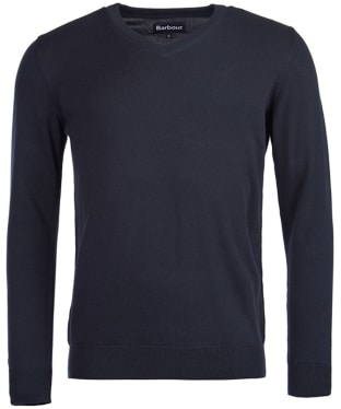 Men's Barbour Pima Cotton V-Neck Sweater - Navy