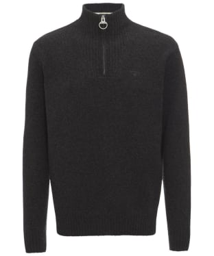 Men's Barbour Essential Wool Half Zip Sweater - Charcoal