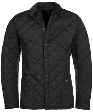 Men's Barbour Heritage Liddesdale Quilted Jacket - Black