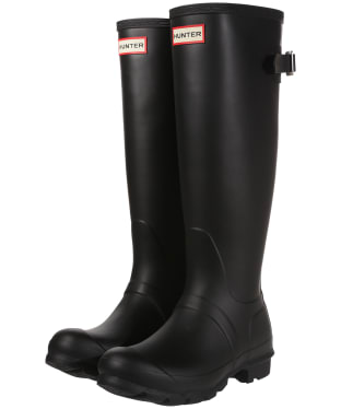 Women's Hunter Original Back Adjustable Wellington Boots - Black