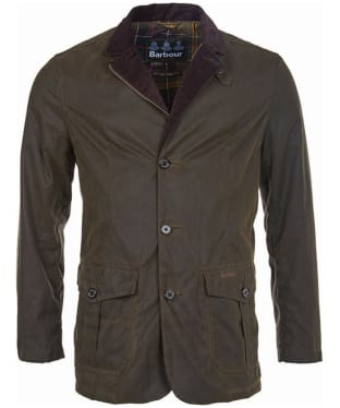 Men's Barbour Lutz Waxed Jacket - Olive