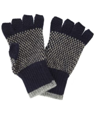 Men's Barbour Brodie Lambswool Gloves - Navy