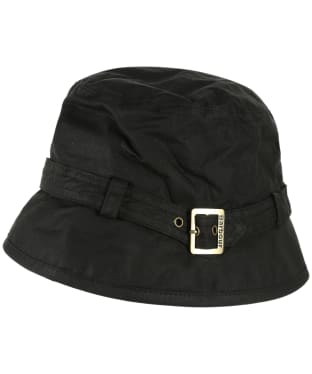 Women's Barbour Kelso Wax Belted Hat - Black
