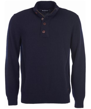 Men's Barbour Patch Half Button Lambswool Sweater