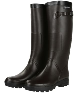 Aigle Benyl Medium Wellington Boots - Brown