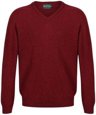 Men's Alan Paine Stratford Long Sleeve V Neck Sweater - Poppy