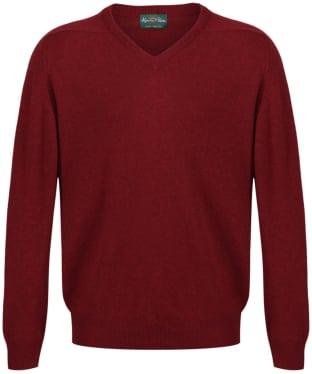 Men's Alan Paine Stratford Long Sleeve V Neck Sweater