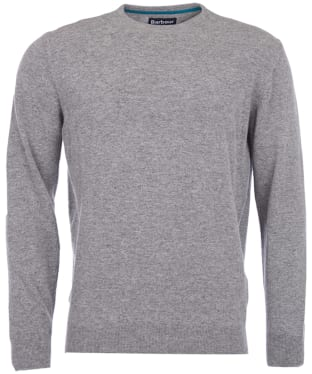 Men's Barbour Essential Lambswool Crew Neck Sweater - Grey Marl