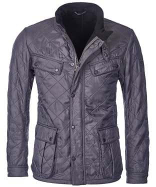 Men's Barbour International Ariel Polarquilt Jacket - Charcoal