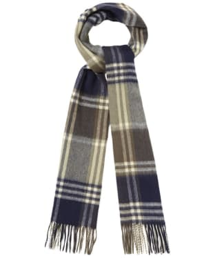 Barbour Kindar Check Scarf - Olive / Navy