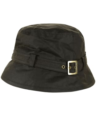Women's Barbour Kelso Wax Belted Hat - Olive
