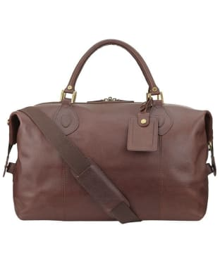 Barbour Leather Medium Travel Explorer Bag - Brown