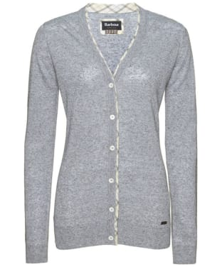 Women's Barbour Popham Cardigan - Blue Melange