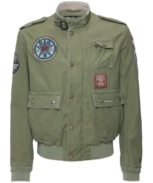 Men's Barbour International Customised Flyer Jacket - Burnt Olive