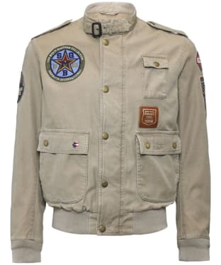 Men's Barbour International Customised Flyer Jacket - Stone