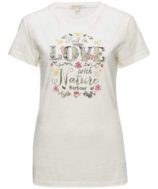 Women's Barbour Love Nature Tee Shirt - Cream