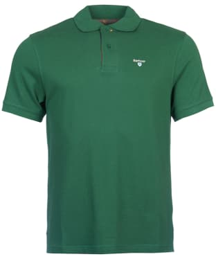Men's Barbour Tartan Pique Polo Shirt - Racing Green