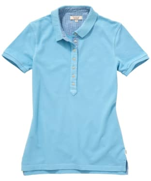 Women's Aigle Retrotee Polo - Sky