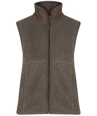 Children's Alan Paine Aylsham Fleece Waistcoat, 3-16yrs - Brown