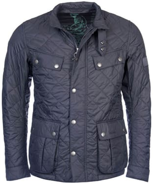 Men's Barbour International Ariel Quilted Jacket - Charcoal
