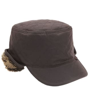 Men's Barbour Stanhope Trapper Waxed Hat - Rustic