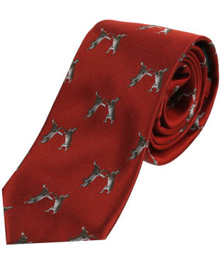 Men's Soprano Boxing Hares Tie - Red