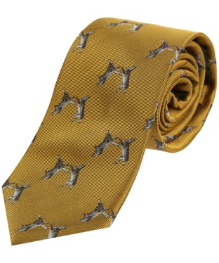 Men's Soprano Boxing Hares Tie - Gold