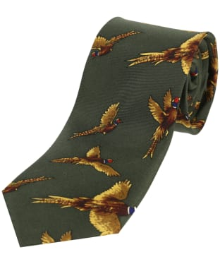 Men's Soprano Flying Pheasants Tie - Green